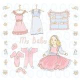 Vestito dalla bamboletta Fotografia Stock
