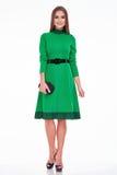 Vestito dalla donna di affari del modello di fascino di stile del catalogo dei vestiti di modo Fotografie Stock