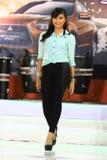 Vestito dalla sfilata di moda retro Fotografia Stock Libera da Diritti
