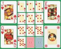 Vestito dei cuori delle carte da gioco del black jack Immagini Stock
