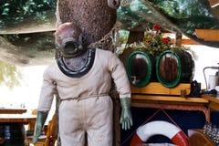Vestito dell'operatore subacqueo anziano fotografie stock
