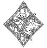 Vestito della carta dei diamanti Illustrazione di Stock