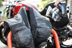 Vestito della corsa del motociclo Fotografie Stock Libere da Diritti