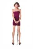 Vestito della ragazza con il tabacco-tubo Immagini Stock