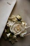 Vestito di cerimonia nuziale Fotografie Stock