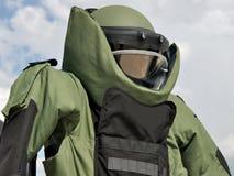 Vestito di eliminazione di bomba Fotografia Stock