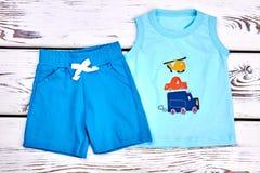 Vestito di estate del cotone del neonato Fotografie Stock Libere da Diritti