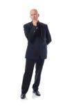 Vestito di Manin il pensatore Immagini Stock Libere da Diritti