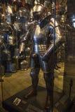 Vestito di re Henry VIIIs dell'armatura alla torre di Londra Fotografia Stock Libera da Diritti