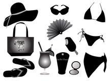 vestito e cose per la spiaggia Immagine Stock Libera da Diritti