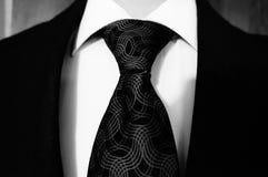 Vestito e legame in bianco e nero Fotografie Stock Libere da Diritti