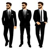Vestito e smoking del ` s degli uomini di nozze accumulazione Lo sposo Illustrazione Vettoriale