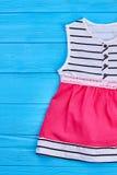 Vestito elegante dal cotone di estate del bambino Immagine Stock Libera da Diritti