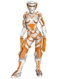 Vestito futuristico di battaglia Fotografia Stock