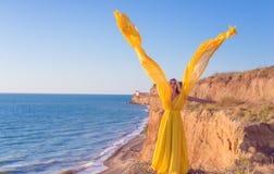Vestito giallo immagini stock libere da diritti