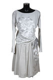 Vestito grigio femminile Fotografia Stock
