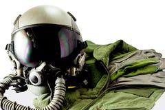 Vestito pilota militare di volo Fotografia Stock Libera da Diritti