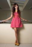 Vestito rosso Immagine Stock