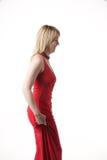 Vestito rosso Fotografie Stock Libere da Diritti