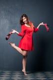 Vestito rosso fotografia stock libera da diritti
