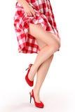 Vestito rosso Fotografie Stock