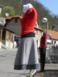 Vestito su un manichino della donna Immagine Stock