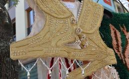 Vestito tradizionale turco dalla donna Immagine Stock