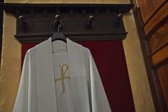 Vestment Catholic priest Stock Photo