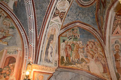 Vestments and paintings in a monastery in the valley of the Bene Royalty Free Stock Photos