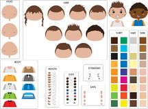 Vestor set of character design Royalty Free Stock Images