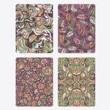 Vestor Set floral Background Royalty Free Stock Images