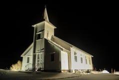 Vestpollen chapel in Austnesfjord, Lofoten Islands Stock Image