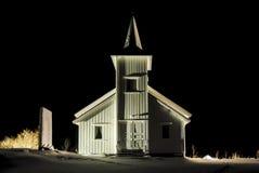 Vestpollen chapel in Austnesfjord, Lofoten Stock Photos