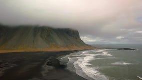 Vestrahorn, Stokksnes, Islanda, metraggio aereo archivi video