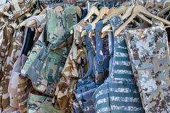 Vests camouflage clothing Stock Images