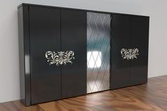 Vestuário preto com espelho Imagem de Stock