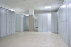 vestuários, série dos armários, um lugar para a roupa em mudança, escola Foto de Stock