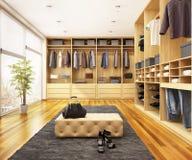 Vestuario moderno en una casa grande stock de ilustración