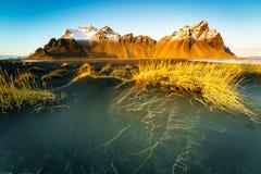 Vesturhorn山,冰岛 免版税图库摄影