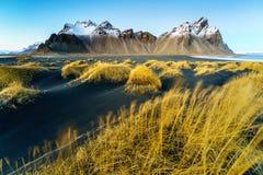 Vesturhorn山,冰岛 免版税库存照片