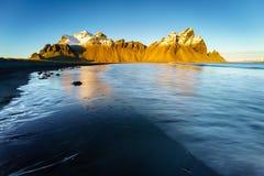 Vesturhorn山,冰岛 库存图片
