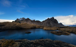 Vesturhorn Montain, Ισλανδία Στοκ φωτογραφία με δικαίωμα ελεύθερης χρήσης