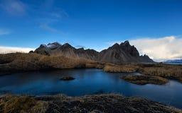 Vesturhorn Montain, Islandia fotografía de archivo libre de regalías