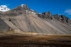 Vesturhorn mountain landscape in Southeast of Iceland. Vestrahorn Iceland is one of the most photographed mountains on the island. Located on the Stokksnes Royalty Free Stock Image