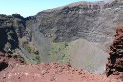 Vesuv-Vulkankrater Stockfotos