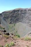 Vesuv-Vulkankrater Lizenzfreies Stockfoto