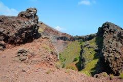 Vesuv-Vulkankrater nahe bei Neapel Stockfoto