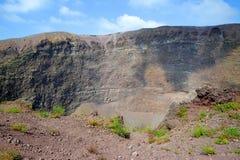 Vesuv-Vulkankrater nahe bei Neapel Stockbilder
