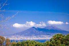 Vesuve scenic view royalty free stock photos