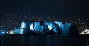 Vesuvio na noite imagens de stock royalty free
